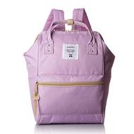 日本 Anello - 日本大開口牛津布後背包-mini小尺寸-LV薰衣紫(無側口袋)