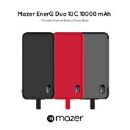 Mazer EnerG Duo 10C 10000mAh Portable External Battery Power Bank with Qualcomm Quick Charge 3.0 + Type-C Input/Output, Fast Charging, Short-Circuit Protection, With Digital LED Display Power Indicator