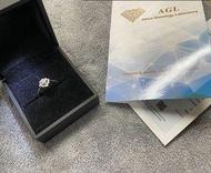 AGL女鑽戒💍 真鑽石💎附證書