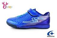Moonstar 月星 足球鞋 中大童 防潑水 耐踢 運動鞋 H9698#藍色 奧森
