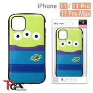 【iJacket】iPhone 11/11 Pro/11 Pro Max 迪士尼 軍規 口袋插卡 雙料殼(三眼怪)