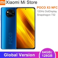In Stock Global Version Xiaomi POCO X3 NFCสมาร์ทโฟน64GB/128GB Snapdragon 732G Octa Core 64MP 5160MAhแบตเตอรี่33วัตต์