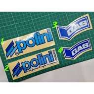 Polini Reflective Stickers Motorcycle Stickers