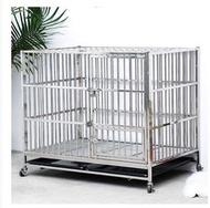 加厚折疊不銹鋼狗籠子大型犬中小型犬泰迪貴賓金毛寵物籠