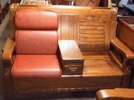 【南台灣傢俱】L型連身透氣皮坐墊椅墊(木製沙發專用)***超低特價$730元