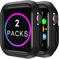 (2pack)Case for Apple Watch 44mm Shock-proof and Shatter-resistant Protector Bumper watch Case for Apple Watch Series 5 Series 4