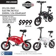 Preorder DYU D3+ eBike  36v 10Ah Electric Bicycle LTA Approved EN15194 Standard