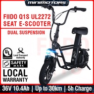 ★ Local UL2272 E-Scooter ★ Fiido Q1S / Q1  (1 Year Warranty + Free shipping + Child Seat + Basket)