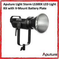 Aputure Light Storm LS300X (C300X) LED Light Kit with V-Mount Battery Plate