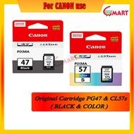 Canon PG47 & CL57 / CL57s Original Cartridge / Refill Kit / Refill Ink for printer E400 / E410 / E470 / E480 / E4270