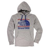 美國百分百【全新真品】The North Face 連帽 TNF 長袖 T恤 休閒保暖 男 灰色 M XL號 E156