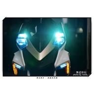 【無名彩貼-894】SYM DRG 158 大燈膜 - 電腦裁形膜-裝飾+防止儀表刮傷