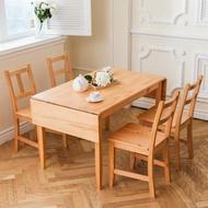 【CiS 自然行】北歐原木桌椅組 74x166cm桌+4椅 溫暖柚木色 三選一(雙邊延伸桌 工作桌 餐桌 鄉村風)