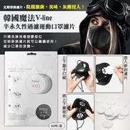 韓國魔法V-line 半永久性過濾運動口罩濾片/盒