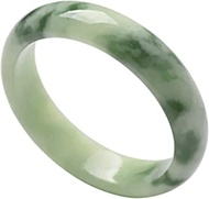 Classic Retro Oriental Style Natural Jade Bangle Floating Green Round Bar Link Bracelet,Crystal Natural Stone For Men Women Holiday Gift. (Size : 60-62mm)