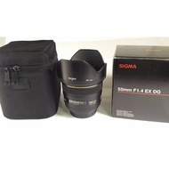 Sigma 50mm F1.4 EX DG HSM for Canon 公 (CL142)