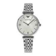 ส่วนลด emporio_armani _ _ QUARTZ ar1682 ผู้หญิงเงินสแตนเลสผู้หญิงนาฬิกา
