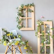 ▦℗Fotografi bunga bunga rotan bunga buatan alat peraga bunga palsu dinding gantung hiasan hiasan bunga plastik plastik g