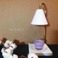 天然大理石暖燈 香氛蠟燭 暖台 檯燈 白色大理石《加贈GREENLEAF香氛蠟燭》