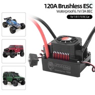 SURPASS HOBBY 120A Brushless ESC Waterproof Electric Speed Controller for 1/8 1/10 RC Truck Off-road Car