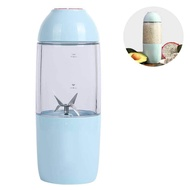 niceEshop 380ml Personl Blender, Smoothie Blender for single served, USB Rechargeable Portable Blender for Shakes and Smoothies, Stronger and Faster with Ice Tray Funnel Recipe