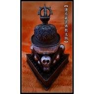 【傳承佛教文物】銀嘎巴拉碗 紅銅半鎏金 嘎巴拉  尼泊爾 雕琢 手工製作 方便消業之極佳助緣法器