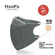 HAOFA 3D 氣密型立體口罩 蜂巢狀活性碳 服貼臉型 透氣輕薄 成人款 50入/【HFB01】盒【】