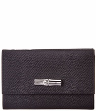 Longchamp Womens  Leather Continental Wallet