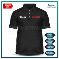 Dry Fit Polo T Shirt Tech3 Yamaha Sulam MotoGP Motorcycle Motosikal Superbike Racing Team Casual Y15 Y125Z LC135 RXZ TZM