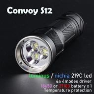 Convoy S12手電筒  luminus sst20*3 (21700/18650 *1)