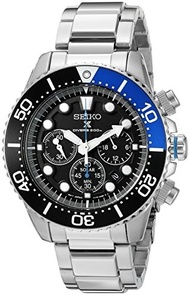 Seiko Watches Seiko Mens SSC017 Prospex Solar Stainless Steel Dive Watch
