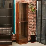 【誠田物集】 LED工業風集成木紋玻璃展示櫃 收藏櫃 玻璃櫃 模型櫃 公仔櫃 玻璃櫃 收納櫃 BO019