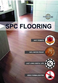 FLOORING SPC 4MM TEAK WOOD - 8807