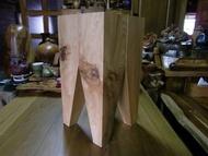 【原味手工家具】台灣紅檜木牙齒椅-台南 原木 家具