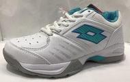 特賣會 LOTTO樂得女款T-TOUR 600全地形網球鞋 排球鞋 6815白/松石綠 超低直購價590元 剩23號