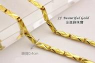 六角鑽沙鑽石刀雕刻男生黃金項鍊金飾項鍊一倆純金項鍊G006507 重8.21錢 板橋金進鋒珠寶金飾