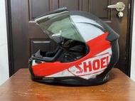 二手美品 日本 SHOEI Z7 彩繪 BRAWN TC-1 紅黑 全罩式安全帽 XXL號