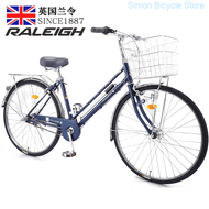 England Order (raleigh) Bicycle Women's Japanese Shimano Lightweight Carriage Commuting Bike Rv Stainless Steel Support In-power Generation Flower-drum Student Cycling Nei San Su Silver Color 26-inch
