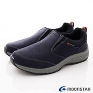 日本月星Moonstar機能男鞋防水防滑系列4E寬楦防水透濕抗菌健走鞋款1974深藍(男段)