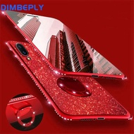 DIMBEPLY Bling Glitter TPU Cases for Vivo Y51 Y71 Y81 Soft Silicon Plating Case with Diamond Ring Phone Holder Back Cover
