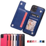 เคสกระเป๋าสตางค์พร้อมที่ใส่บัตรหนังPU,เคสมีขาตั้งแม่เหล็กสองชั้นกันกระแทกสำหรับApple iPhone 11 /Iphone 11 Pro/iphone 11 Pro Max