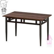 【X+Y】艾克斯居家生活館    餐桌椅系列-吉祥 4*2.5尺餐桌(烤黑腳/木心板).西餐桌.適合居家營業用.摩登家具