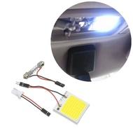 2 Pcs 48 SMD T10 4W COB แผงไฟ LED ภายในรถ12V หลอดไฟโดมแสงสีขาว