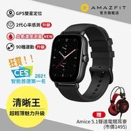 Amazfit華米 GTS2e 魅力升級版智慧手錶 純粹黑 血氧監測