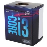 Intel Core i3-8100 第八代 CPU 中央處理器 四核心 3.6GHz 6M 1151腳位 代理盒裝