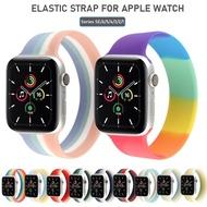 สำหรับApple Watch 5 Band 40มม.44มม.นาฬิกาSerie 4/5/6/SEเข็มขัดซิลิโคนSolo Loopสร้อยข้อมือสายคาดApple Watch 42มม.38มม.