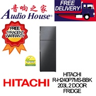 HITACHI R-H240P7MS-BBK 203L 2 DOOR FRIDGE ***1 YEAR HITACHI WARRANTY***