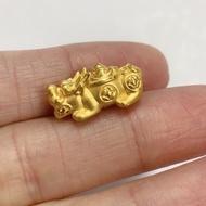 足金黃金元寶貔貅 黃金配件 金重0.25錢