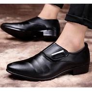💥BBD💥รองเท้าหนัง รองเท้าคัชชูผู้ชาย พื้นเย็บ สีดำ