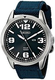 ▶$1 Shop Coupon◀  Seiko Men s Blue Dial Blue Nylon Strap Solar Watch